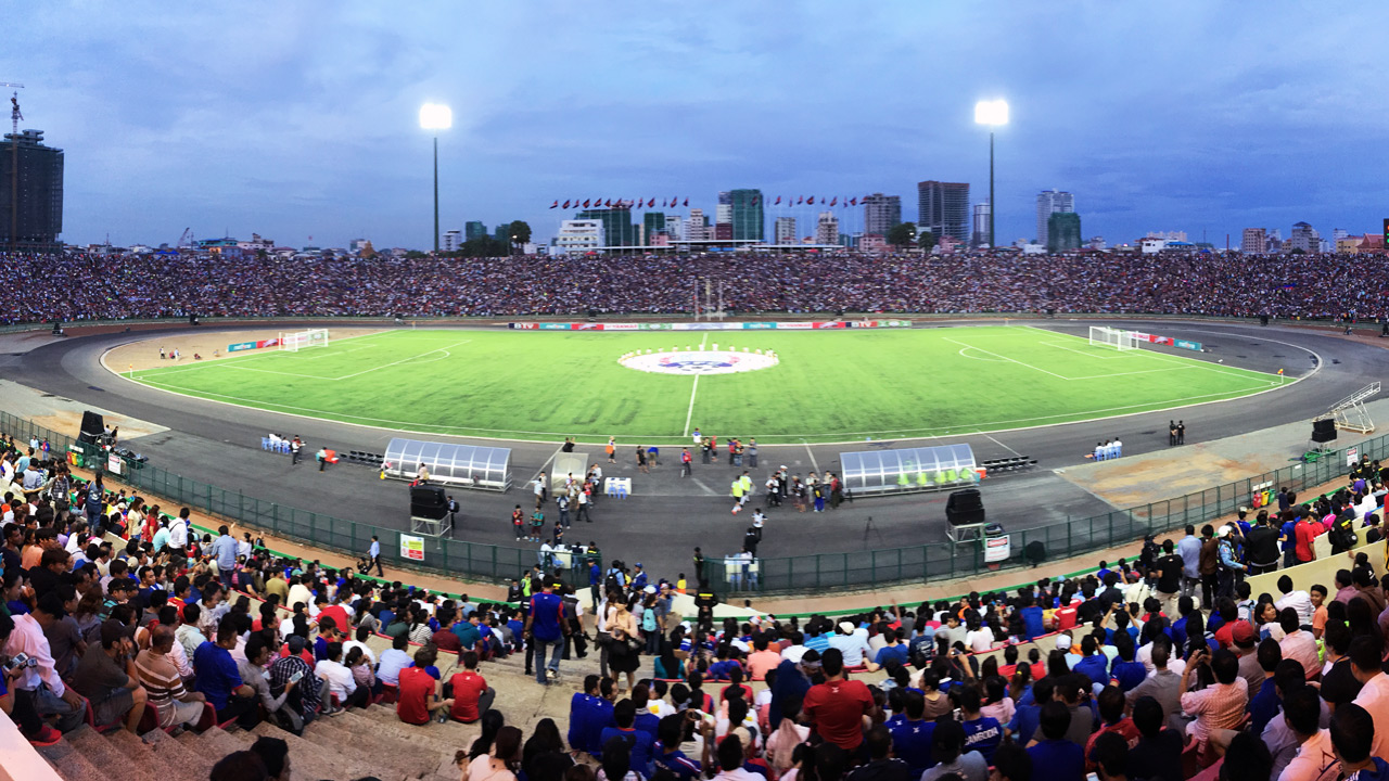Photo: Chetra Chap, 2015, (A SEA Game football match at the Olympic Stadium)